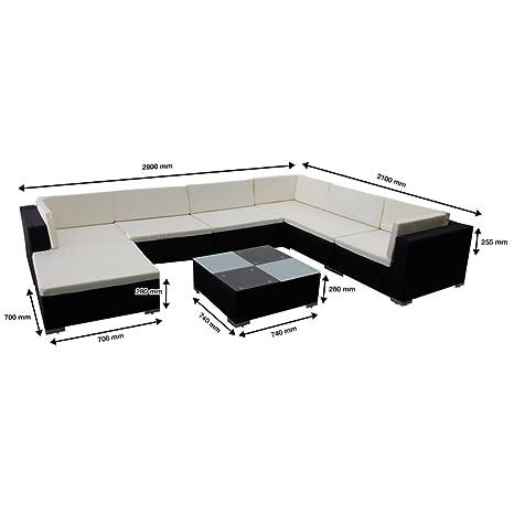 Bonace Conjunto modular de ratán negro, 24 piezas