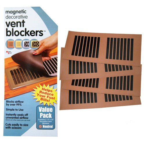 4 DECORATIVE MAGNETIC VENT COVER BLOCKER REDIRECT AIR CONDITIONING AIRFLOW NEW