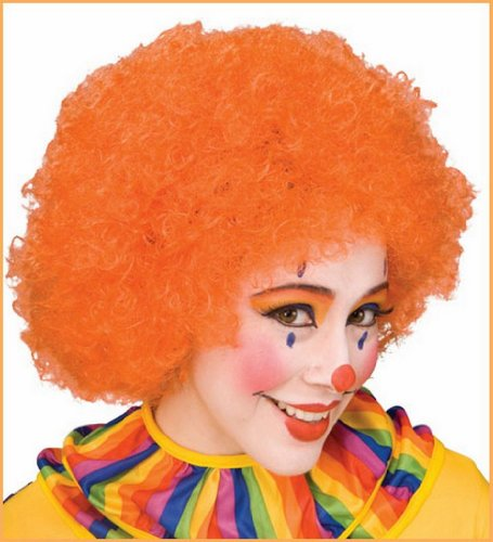Clown Wigs Orange Afro Clown Costume Wigs