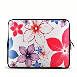 White&amp; flowers 11.6&#8243; 12.1&#8243; 12.5&#8243; inch Notebook Laptop Case Sleeve Carrying bag for DELL Latitude E6230 XT2 XPS Duo/ Samsung 350U 400B / ASUS B23 /HP 4230S 2560P/Thinkpad X230 X220/TOSHIBA U920T/intel Letexo