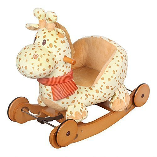 Labebe Lovely Baby Rocking Horse with Safe Backrest & Wheels - Spot Giraffe [Toy] - 1