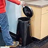 Kapoosh UV Sanitizing Waste Trash Can Bin - Black - Eliminates Odors