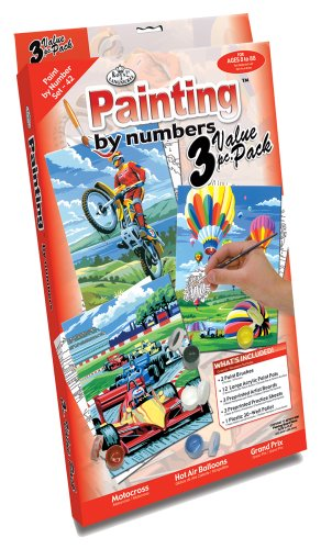 Royal & Langnickel Painting by Numbers Junior Small 3-Piece Art Activity Kit, Outdoor Set