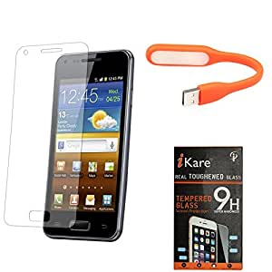 iKare Pack of 8 Tempered Glass for Xiaomi Mi4i + Flexible USB LED Bright Light