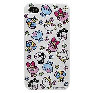 カスタムカバー 豆しぱみゅぱみゅ (総柄 ホワイト) iPhone4/4S ケース