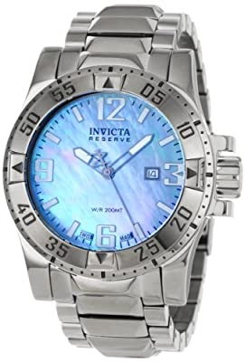 Invicta Men's 0515 Reserve Collection Blue Mother-Of-Pearl Stainless Steel Watch