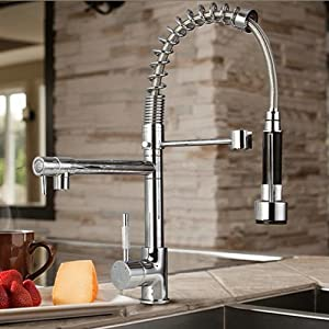Single Handle Pull Out Spray Pre Rinse Spring Kitchen Sink Tap