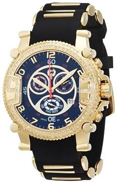 Brillier Men's 02.2.2.1.11.07 Grand Master Tourer Gold-Tone Black Rubber Watch