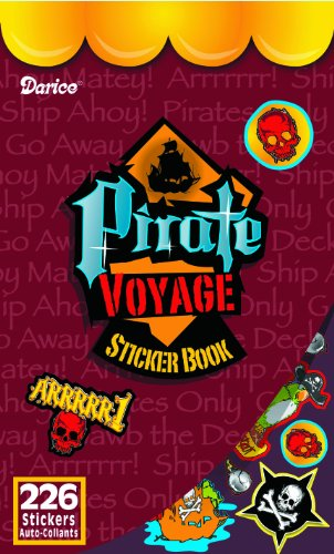 WeGlow International Pirate Voyage Sticker Book (Pack of 4)