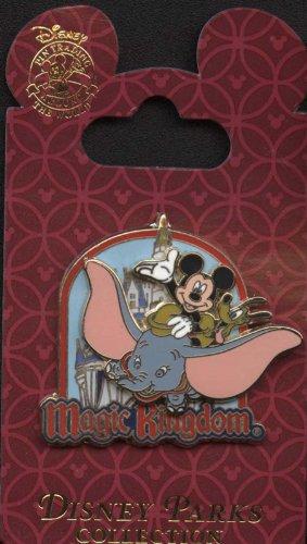 Disney Pin - Magic Kingdom - Mickey and Pluto on Dumbo the Flying Elephant - Logo - Pin 84517