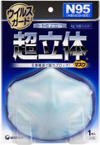 超立体マスク ウイルスガード N95 1枚入