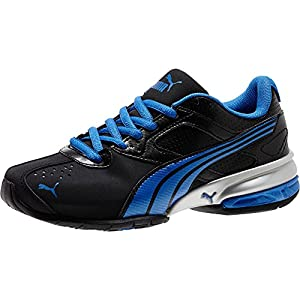 PUMA Tazon 5 NM JR Training Shoe (Little Kid/Big Kid), Black/Strong Blue/Black, 5 M US Big Kid