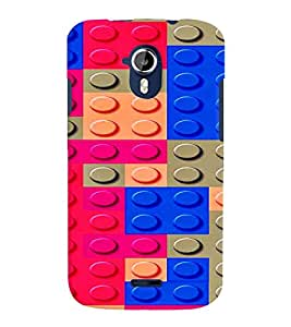 PRINTVISA Abstract Colourful Pattern Case Cover for Micromax Canvas Magnus A117