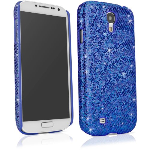 BoxWave Glamour & Glitz Galaxy S4 (S IV, SIV) Case - Slim Snap-On Galaxy S4 Glitter Case, Fun Colorful Sparkle Case for your Galaxy S4 (Sapphire Blue)
