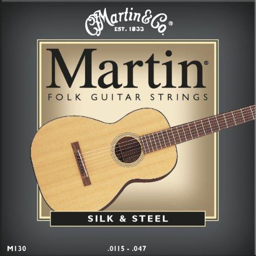 Martin M130 Silk & Steel Folk Guitar Strings,