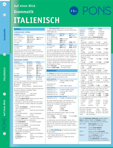 PONS Grammatik auf einen Blick. Italienisch