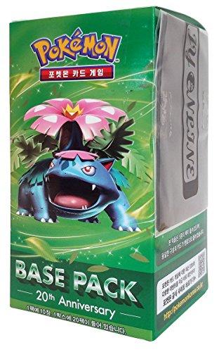 Pokemon Karte XY BREAK Booster Pack Box 20 Packs in 1 Kasten 20th Anniversay-Base pack : Mega Bisaflor Koreanisch Ver TCG + 3pcs Premium Card Sleeve