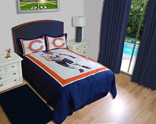 Nfl Biggshots Bedding - Chicago Bears Brian Urlacher Comforter Set, Queen front-920794