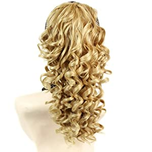 Spiral Curly Hair Piece Blonde mix Ponytail Irish Dance