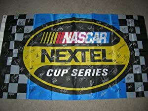 2006 Nextel Cup Series 3X5 ft. Racing Flag AUTOGRAPHED BY 106! by Trackside+Autographs