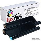 FAXFILM Lot de 2 rubans à transfert thermique compatibles Noir 144 pages chacun En remplacement de Brother PC-72RF, PC-71RF