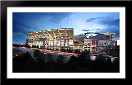 firstenergy-stadium-40x24-large-black-wood-framed-print-art-home-of-the-cleveland-browns