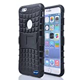 Nancy's Shop Iphone 6 Plus 5.5 Inch [Kickstand] Case,deego New Release [Heavy Duty] Combo Armor Defender [Dual Layer] Grip Case with Prime [Kickstand] for Apple Iphone 6 Plus 5.5'' Screen Smartphone(at&t, Verizon, T-mobile, Sprint,) - (Nancy's Shop Kickstand Case - Black)