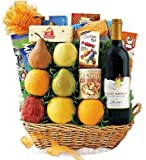 519l%2BFnMZkL. SL160  Grand Fruit & Wine Gift Basket