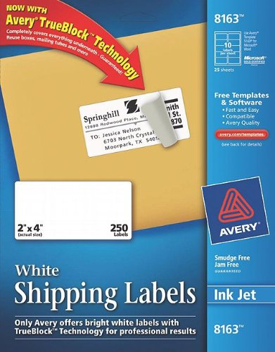 purchase avery shipping labels with trueblock technology 2 With buy mailing labels