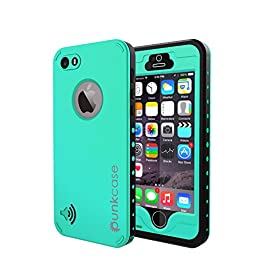 iPhone 5S/5 Waterproof Case, PUNKcase StudStar Teal Apple iPhone 5S/5 Waterproof Case W/ Attached Screen Protector Lifetime Warranty
