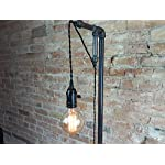 Industrial Style Floor Lamp - Pendant Edison Bulb - Copper Shade