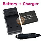 Nikon EN-EL10 Lithium-Ion Battery + Battery Charger with Car Adapter for Ni ....