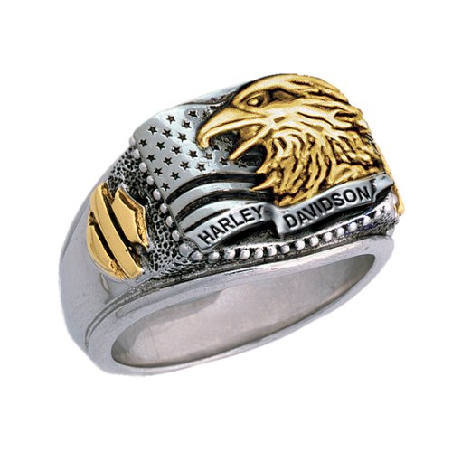 Sterling Silver Harley-Davidson Men's Patriotic Ring