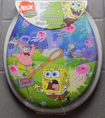 Spongebob Squarepants Soft Toilet Seat Jellyfields Bath Ryanhalekhti