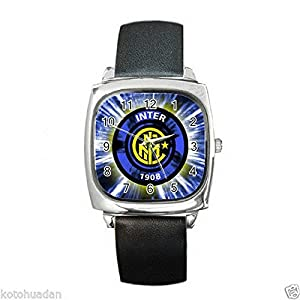 New Wrist Watches XKHD046 NEW* HOT INTER MILAN Square Metal Watch LeatherBan d
