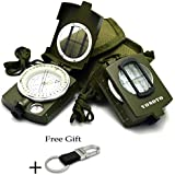 VONOTO Professional Multifunction Military Army Metal Sighting Compass High Accuracy Waterproof Compass - Metal American military Compass Outdoor Equipment