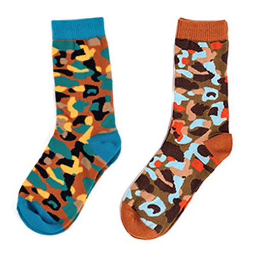 Deer Mum Women Fancy Colorful Camouflage Pattern Characteristic Socks(2 Pairs) front-960051