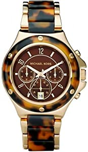 Michael Kors Chronograph Tortoise Acrylic Brown Dial Ladies Watch MK5448