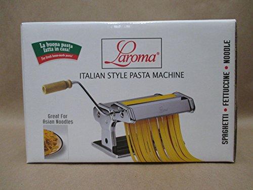 Laroma Pasta Maker Italin Style Spaghetti Fettuccine Noodles Silver Brand