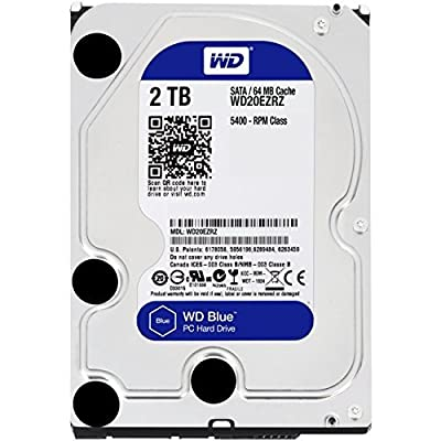 Western Digital Wd20ezrz-rt Wd Blueシリーズ 3.5インチ内蔵hdd 2tb Sata3(6gbs) 5400rpm 64mb