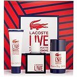 Lacoste Lîve 3 Pcs Gift Set For Men 3.3 Oz Eau De Toilette Spray + 1.6 Oz Shower Gel + 2.4 Oz Deodorant Stick