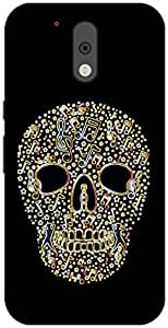 The Racoon Lean Glowing Music Skull hard plastic printed back case / cover for Motorola Moto G 4th Gen