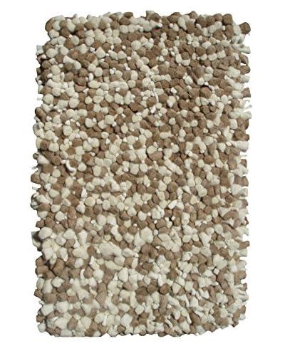 The Rug Market Bergamo Shag Scatter Rug, Beige/Off-White, 16 x 27