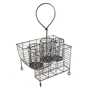 Amazon.com - Mesa Home Products Rustic Wire Picnic Caddy - Kitchen