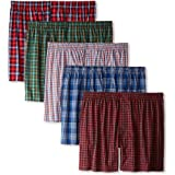 Hanes Mens Classics 5-Pack Tartan Boxer - Colors May Vary, Tartan Plaid, Medium