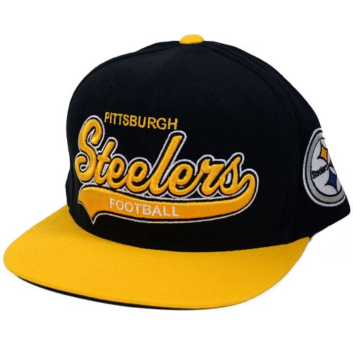 Pittsburgh Steelers Tailsweeper Brushed Twill Script Black Snapback Hat