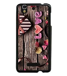 Love Heart 2D Hard Polycarbonate Designer Back Case Cover for YU Yureka :: YU Yureka AO5510