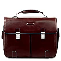 Piquadro Leather Case with 2 Front External Pockets, Mahogany, One Size