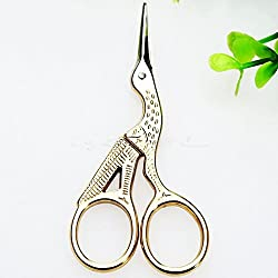 ETGtek Vintage Stork Shape Sewing Scissors Trimming Dressmaking Shears Cross-stitch Carbon Steel Tailor Scissors for Sewing Embroidery Fabric
