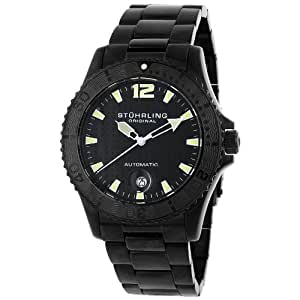 Stuhrling Original Men's 161.33511 Water Sports 'Regatta' Automatic Black Ion-Plated Dive Watch